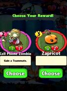 Choice between Cell Phone Zombie and Zapricot