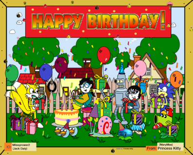 Birthday Banner to Milesprower2 by Princess Kitty