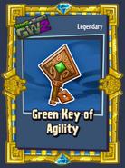 Green key of agility sticker