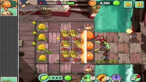 Plants vs Zombies 2 Pirate Seas Day 8 Walkthrough