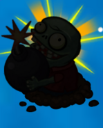 Exploding imp silhouette