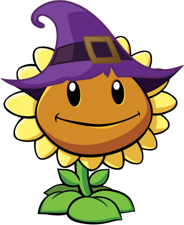 File:Plants vs zombies 2 sunflower halloween r by illustation16-d6s41wo.png