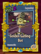 Pvzgw2 golden gatling bot sticker