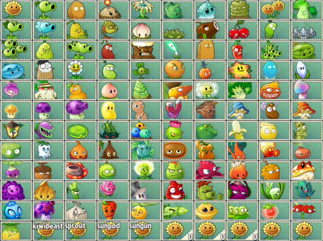 File:All PvZ2 and PvZC Seed Packets.png