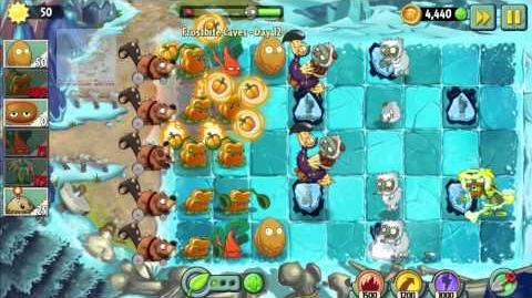 "Plants vs Zombies 2 Frostbite Caves - Day 12 of ""The Beginning's trip to get the World Key"""