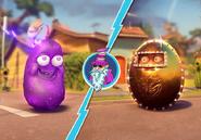 Official Dark Bean Bomb vs Bling Maiden photo from Popcap Twitter