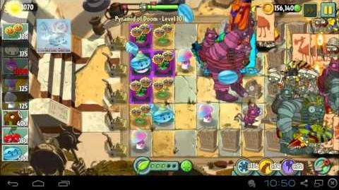 Pyramid of Doom Level 101 hypno Shroom Boost Dark Ages Plants PvZ2 Endless Zone
