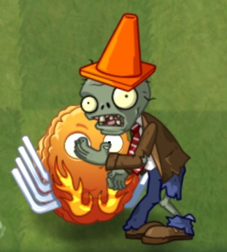 File:Conehead Zombie Eating Explode o Nut (PvZ 2).jpg