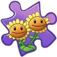 Twin Sunflower Puzzle Piece
