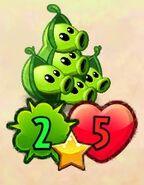 Shrunken five-headed Pea Pod