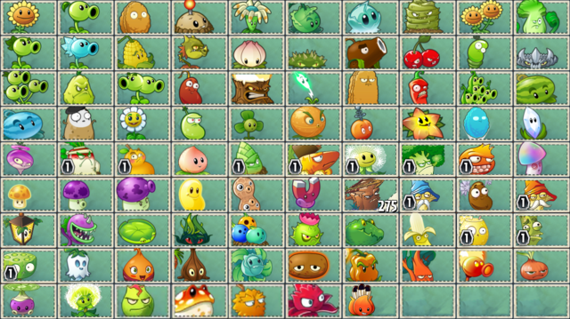 File:All Seed Packets from PvZ2 and PvZ (cn).png