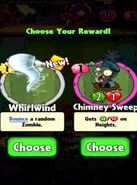 Choice between Whirlwind and Chimney Sweep