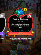 Electric Blueberry Conjured by High-Voltage Currant