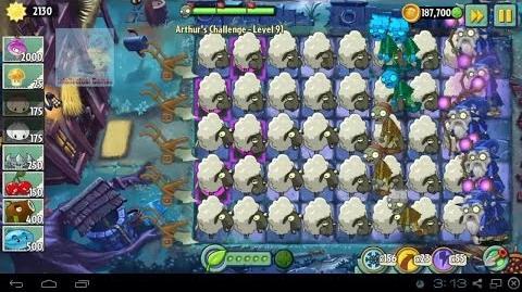 Arthur's Challenge Level 91 to 95 Plants vs Zombies 2 Dark Ages