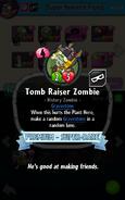 Tomb Raiser Zombie PvZH - desc