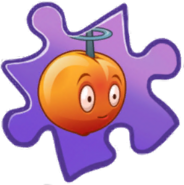 Electromagnetic Peach Puzzle Piece