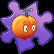 Electromagnetic Peach Puzzle Piece