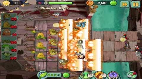 Plants vs Zombies 2 Pirate Seas Day 14 Walkthrough