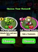 Choice between Threepeater and Cell Phone Zombie