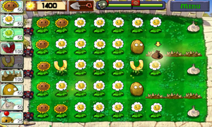 Android money-farming layout, first Quick Play level