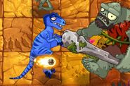 Charmed Velociraptor Versus Gargantuar