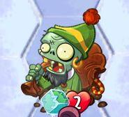 Frozen regifting zombie without blue color