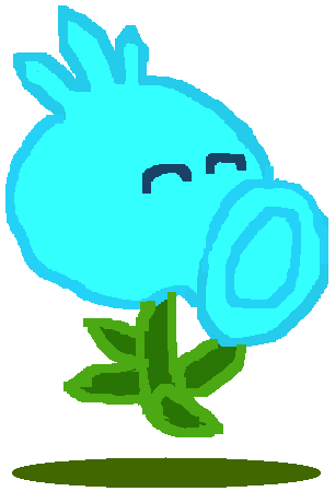File:Snow Pea in The Game Drawing.png