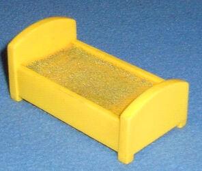 Yellow Plastic Rectangular Single Bed