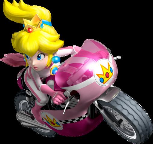 File:Princess Peach Artwork - Mario Kart Wii.png
