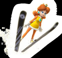 Daisy Artwork - Mario & Sonic Sochi 2014