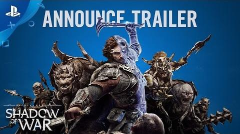 Middle-earth Shadow of War - Official Announcement Trailer PS4
