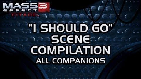 "Mass Effect 3 Citadel DLC ""I should go"" scene compilation (MaleShep version)"