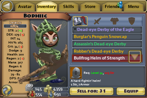 Bullfrog Helm of Strength