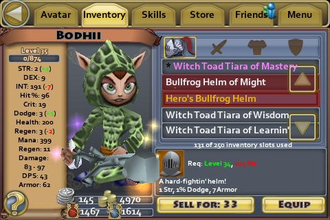 Heros Bullfrog helm