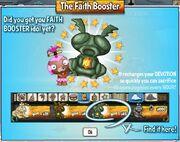 Faith booster pop up