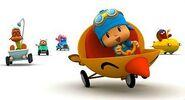 Pocoyo cars racing
