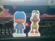 Super Pocoyo and Super Pato by murumokirby360