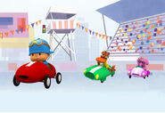 Pocoyo-racing-elly-car-pato-car
