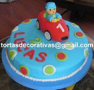 Pocoyo racing cake