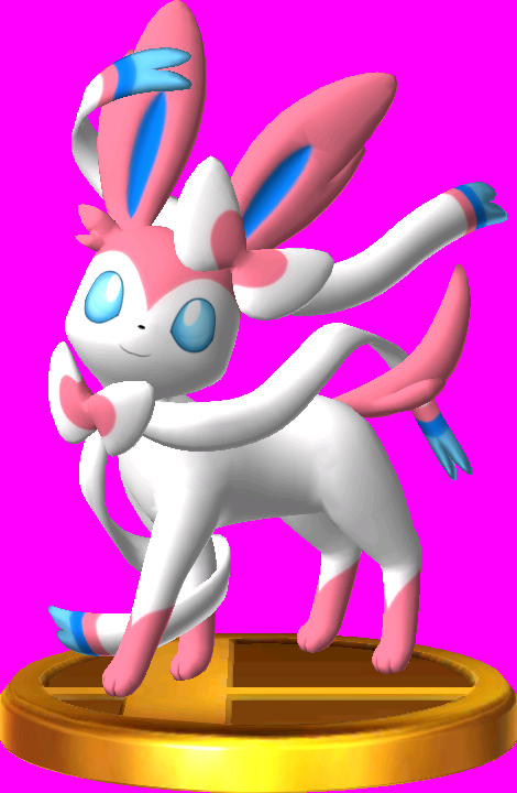 File:Sylveon trophy SSB3DS.png