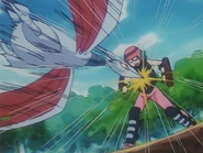 Miki training with Skarmory
