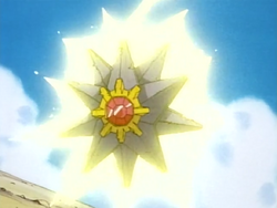 Rudy Starmie Thunderbolt anime