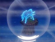 Suicune glowing