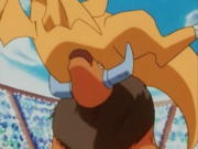 Ash's Tauros Fighting Drake's Dragonite
