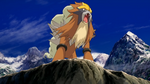 Entei in the mountains