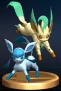 Glaceon and Leafeon trophy SSBB