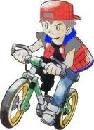 Red on bike