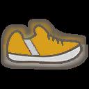 Shoes M Yellow Stripe