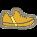 Shoes F Yellow Stripe