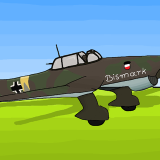 LuftwaffeBall's Famous Stuka-87 Drawn By Stocho [Admin Of LuftwaffeBall] In a Salute for the Old Admin Who Left Bismarck